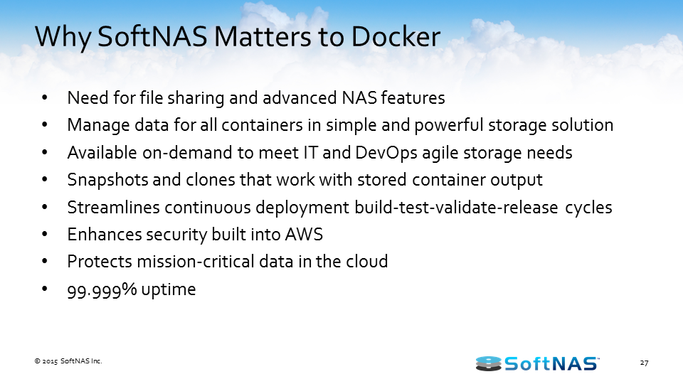 docker persistent storage softnas cloud nas
