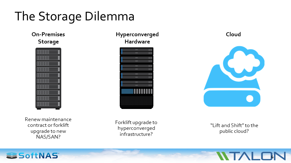 nas vs hyperconverged vs cloud